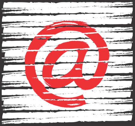 e  mail: e mail box Illustration