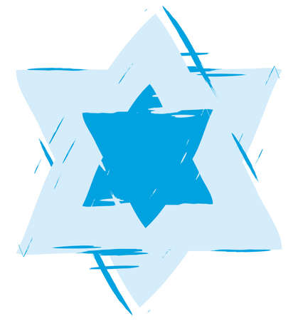 hebrew bible: star of david Stock Photo