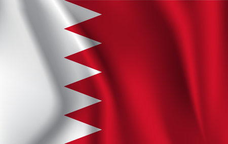 Bahrain Flag illustration.