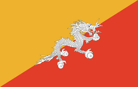 Bhutan flag illustration. Illustration