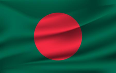 3D Waving Flag of Bangladesh 10 eps Stock fotó - 112026884