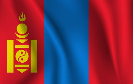 Flag of Mongolia. Stockfoto
