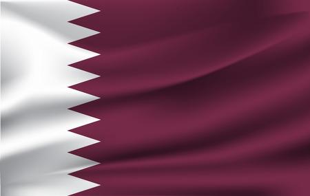 Original und einfache Katar-Flagge isolierter Vektor in offiziellen Farben und Proportionen richtig