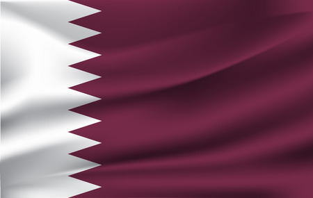 Original and simple Qatar flag isolated vector in official colors and Proportion Correctly Illustration