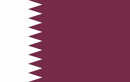 Qatar flag, official colors and proportion correctly. National Qatar flag. Vector illustration Illustration