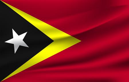 3D Waving Flag of East Timor