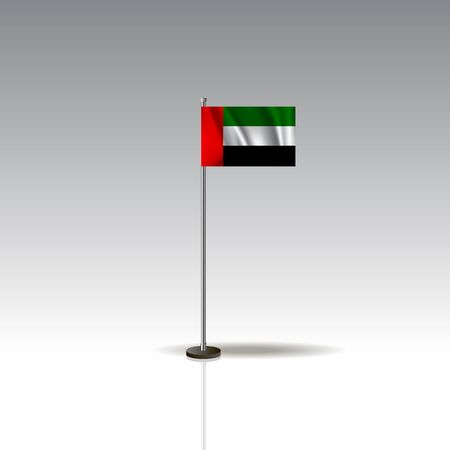 National Palestine flag isolated on gray background. Illusztráció