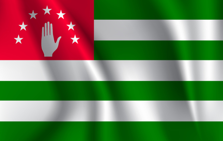 Abkhazia flag background with cloth texture. abkhazia Flag illustration.