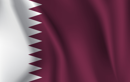 Original and simple Qatar flag isolated in official colors and Proportion Correctly 版權商用圖片