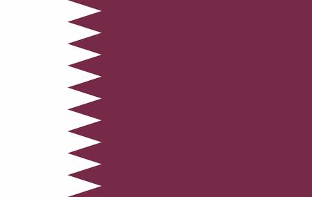 Katar Flagge, offizielle Farben und Proportionen korrekt. Nationalflagge von Katar. Illustration
