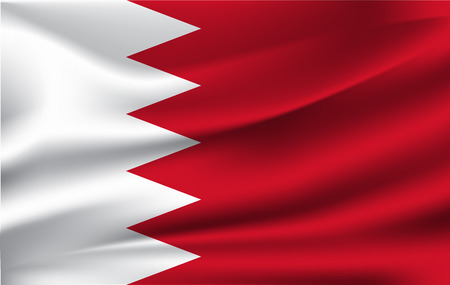 Illustration vectorielle de drapeau de Bahreïn. Drapeau de Bahreïn. Drapeau national de Bahreïn.
