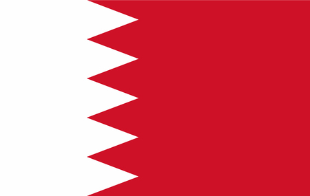 Vector Bahrain flag, Bahrain flag illustration, Bahrain flag picture, Bahrain flag image Ilustracja