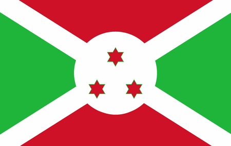 original and simple Burundi flag isolated in official colors and Proportion Correctly Stock Photo