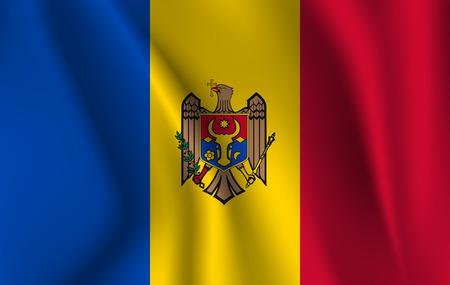 3D Waving Flag of Moldova