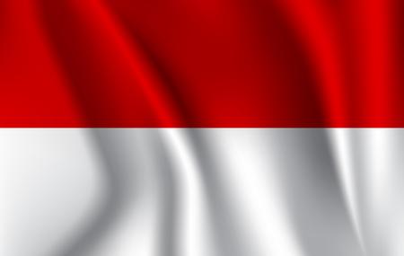 Monaco flag background with cloth texture. Monaco flag illustration.