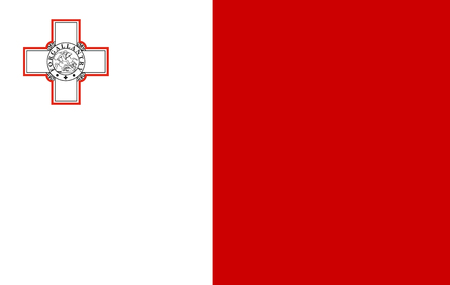 Malta flag . original and simple Malta flag isolated in official colors and Proportion Correctly Stock Photo