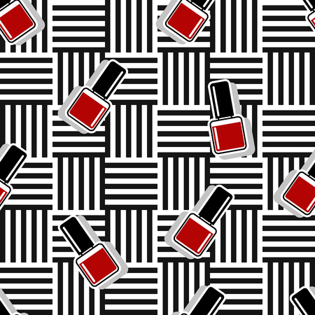 Seamless vector pattern nail polish background illustration. 10 eps