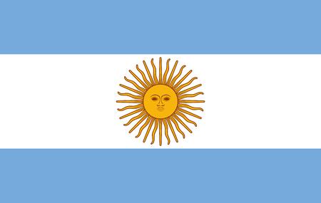 Argentinien-Flagge, Argentinien-Flaggenillustration, Argentinien-Flaggenbild, Argentinien-Flaggenbild