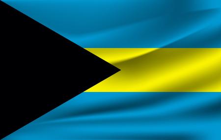 Waving flag of Bahamas,