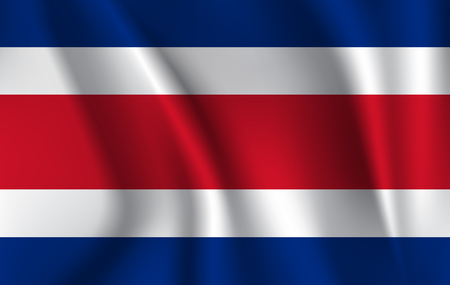 Flag of Costa Rica, vector illustration