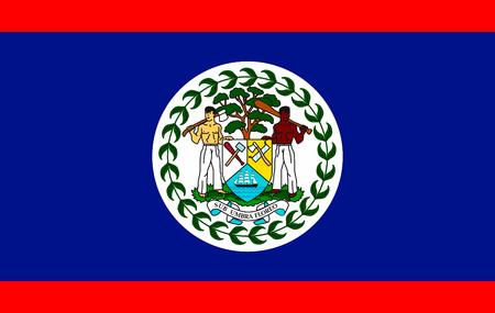 Flag of Belize vector illustration