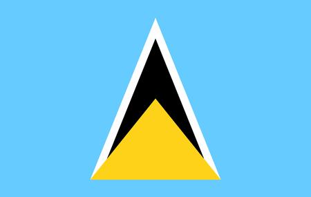 Saint Lucia flag - vector icon