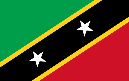 Saint Kitts and Nevis flag - vector icon