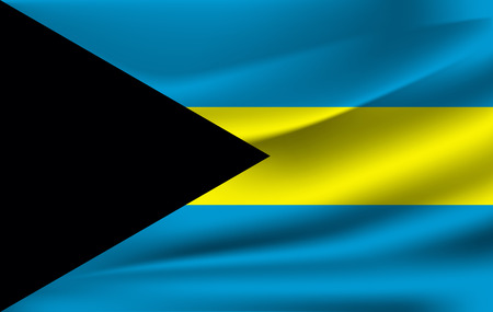 Waving flag of Bahamas, vector Archivio Fotografico - 111921141