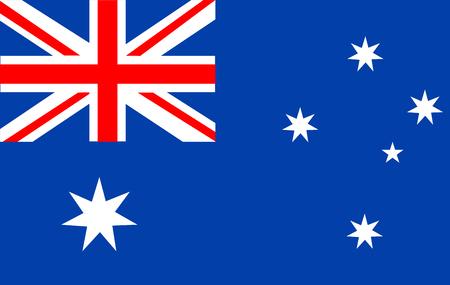 Australia flag vector icon.