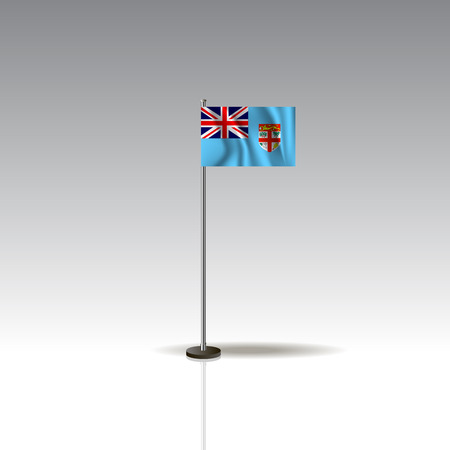 Flag Illustration of the country of FIJI. National FIJI flag isolated on gray background. Vector. EPS10 Banque d'images