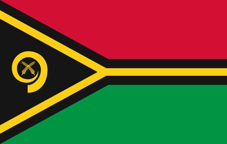 Vector símbolo de la página de la bandera de Vanuatu para el diseño de su sitio web Logotipo de la bandera de Vanuatu, aplicación, interfaz de usuario. Ilustración de Vector de bandera de Vanuatu, Eps10.