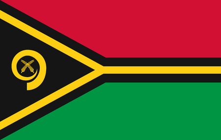 Vector Vanuatu flag page symbol for your web site design Vanuatu flag logo, app, UI. Vanuatu flag Vector illustration, EPS10. Ilustracja