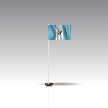 Flag Illustration of the country of GUATEMALA.