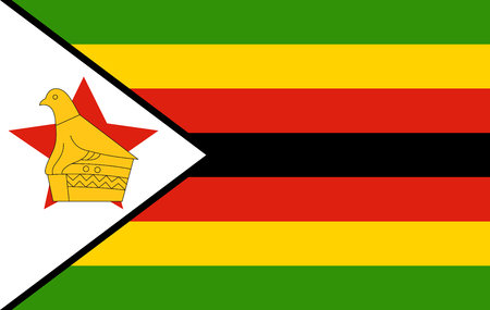 Zimbabwe flag isolated vector in official colors and Proportion Correctly  イラスト・ベクター素材