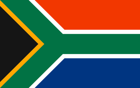 National flag of South Africa. Illustration