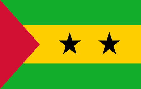 Flag of Sao Tome and Principe. 10 EPS Ilustração