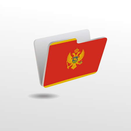 vector folders icons with Montenegro flags