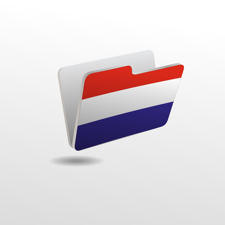 vector folders icons with Netherlands flags