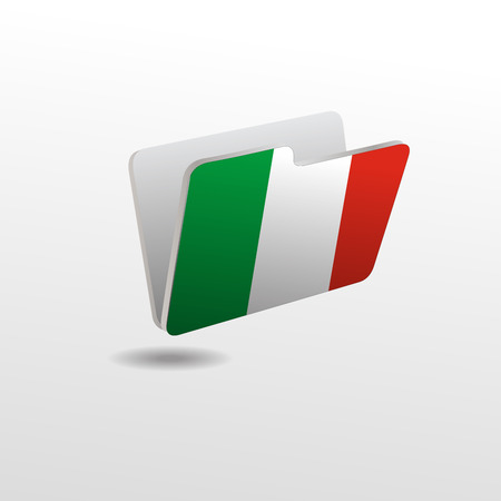 vector folders icons with Italy flags Vettoriali