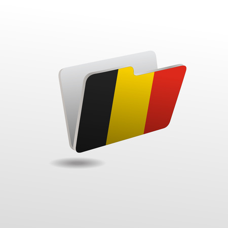 vector folders icons with world flags 免版税图像 - 124783493