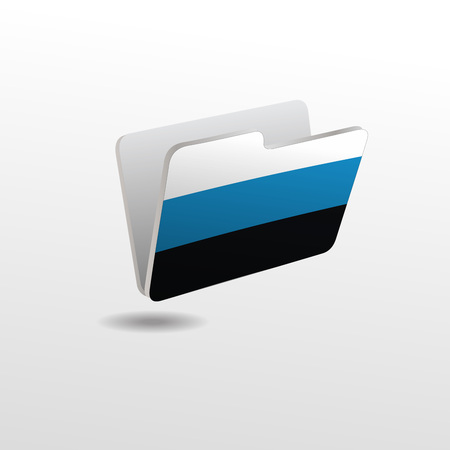 vector folders icons with Estonia flags