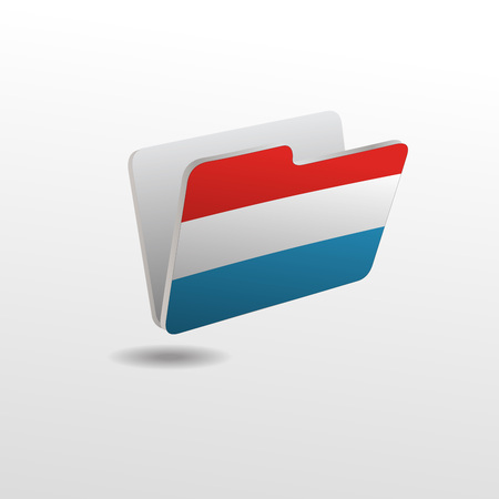 vector folders icons with Luxembourg flags