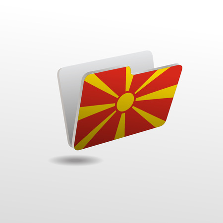 vector folders icons with Macedonia flags