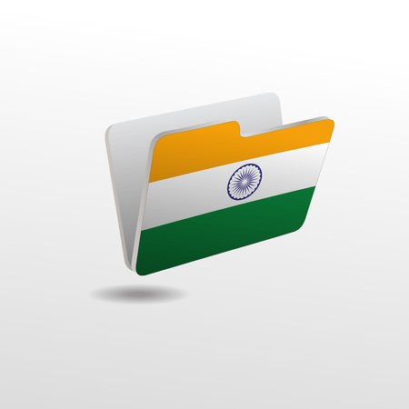 vector folders icons with world flags Banque d'images - 119661255