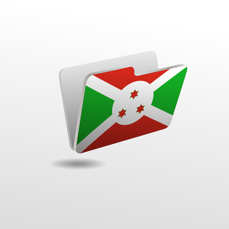 vector folders icons with world flags