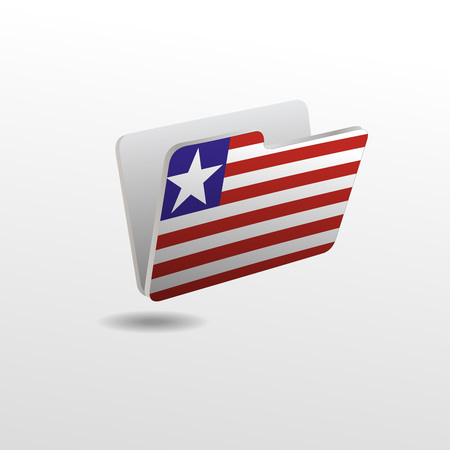 folder with the image of the flag of LIBERIA
