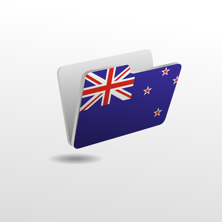 folder with the image of the flag of NEW ZEALAND Archivio Fotografico - 119661273