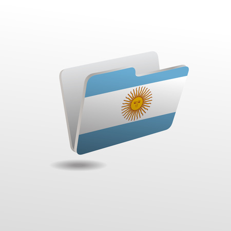 folder with the image of the flag of ARGENTINA Ilustracja