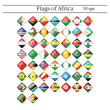 Simple circle flags vector of the countries in flat style. Imagens - 124726224