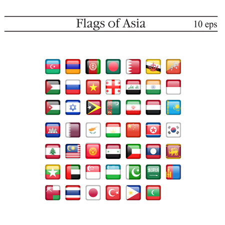 Simple square flags vector of the countries in flat style.